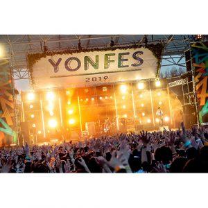 04 Limited Sazabysが主催する「YON FES 2019」の模様を2週にわたりスペシャで独占放送!舞台裏に迫るドキュメント映像も交えた豪華90分!